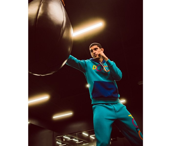Model and 3x national boxing champ Alexis Chaparro wears new Polo Men's x Macy's Spectre 2 collection