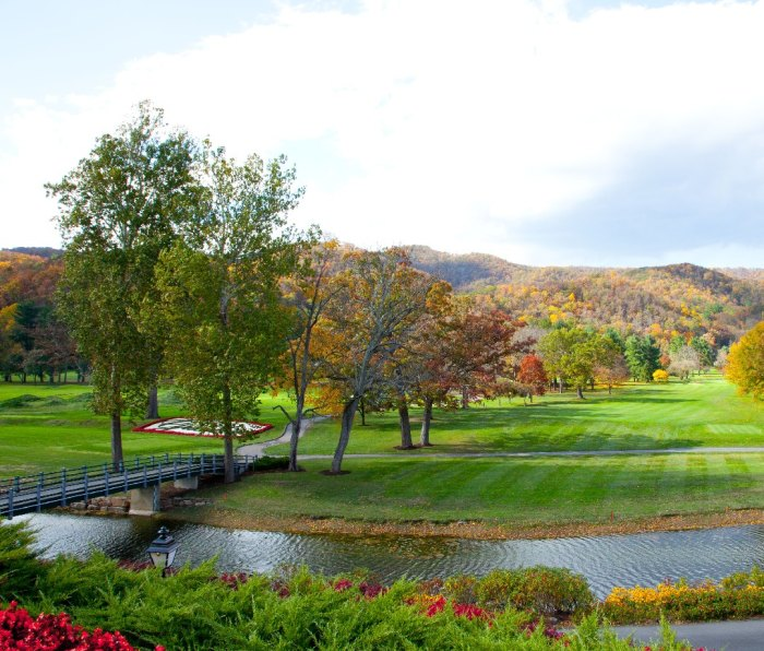 The Greenbrier Resort in the fall