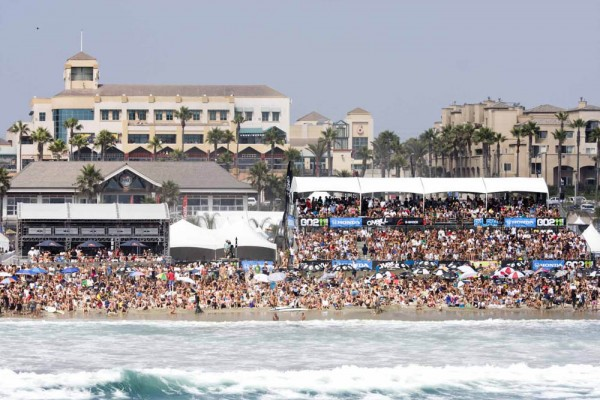 US Open of Surfing, Huntington Beach, crowded surf, west coast surf, california surf, southern california surf