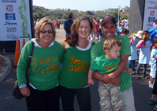 Every year the MS National Society does their 'Walk For MS' day at Lego Land in Carlsbad. Here's Roger and his family: Diane (Roger's Mom), Beth (Roger's Wife), and Roger and his son (Trevor).