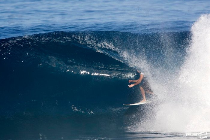 With this Backdoor beauty, Jamie O'Brien took the lead and never looked back. Photo: Bielmann/SPL