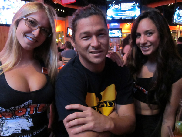 Kalani Robb gets recognized everywhere he goes. Being recognized by Hooters girls is a good thing.