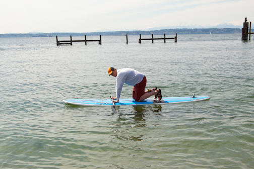 4 Steps to Standing Up,skills, how to SUP, standing up