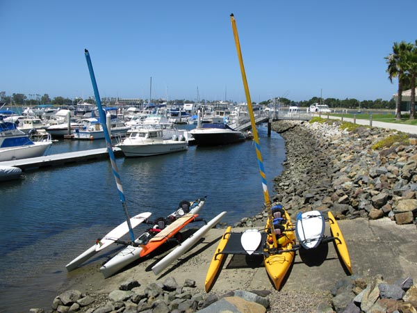 Loaded up with all the toys and ready to set sail from Mission Bay to San Diego Bay.
