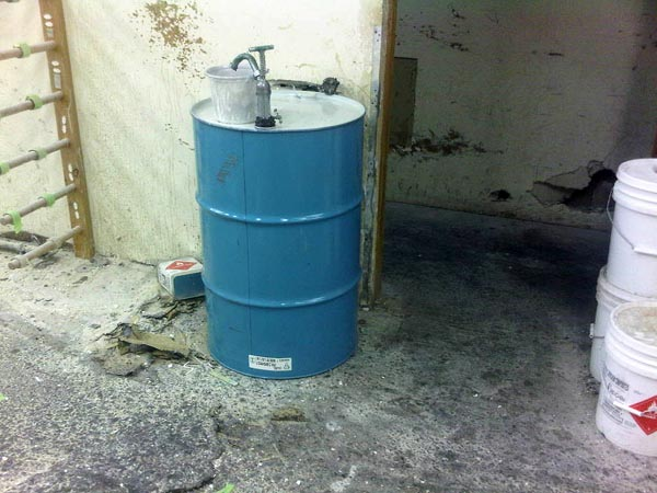 A few years ago, this 55-gallon drum of resin used to cost around $400. Today, the same drum goes for $1200. Think about that before you complain about the price of a surfboard.