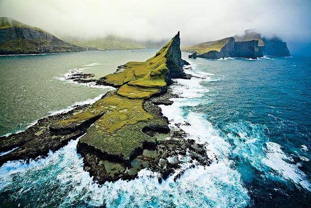 Birds eye view of the Faroes. Photo:
