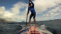 how to sup, paddling downwind, downwinders, skills, morgan hoesterey, bump running