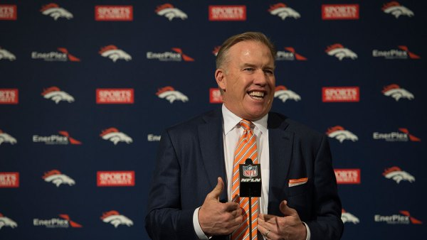 ENGLEWOOD, CO - JANUARY 20: Denver Broncos John Elway, General Manager and Executive Vice President of Football Operations answers questions during the a press conference introducing Gary Kubiak as the new head coach January 20, 2015 at Dove Valley. Kubiak becomes the 15th head coach in franchise history. (Photo By John Leyba/The Denver Post via Getty Images)