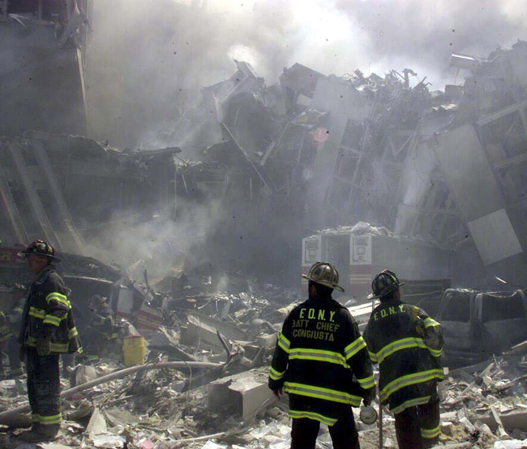 The site of the World Trade Center terrorist attacks