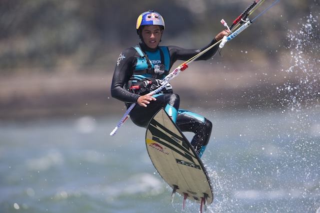 Kiteboarding is one way Kai Lenny stays fit for all of his SUP events. Photo courtesy of Red Bull