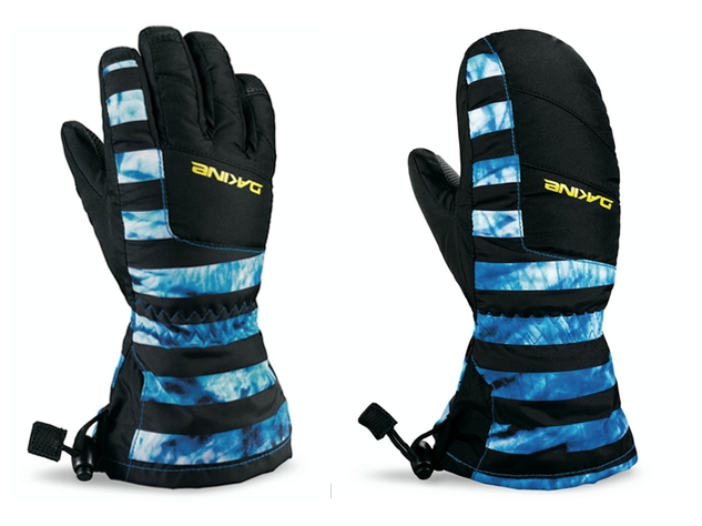 Getting your kids snowboarding and skiing: Kids gloves should have a gauntlet style cuff to keep snow out.