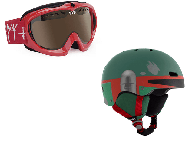 Getting your kids snowboarding and skiing: Goggles and helmets are as essential as a pair of skis or a snowboard.