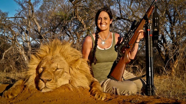 Photos showing Melissa Bachman posing with trophy lion are from her Facebook page