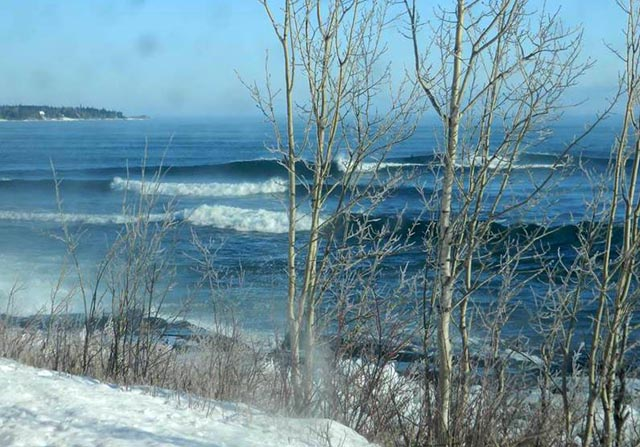Stoney Point, Minnesota firing on all cylinders in late December, 2013. Photo: Burton Hathaway