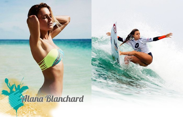 The most popular and one of the hottest surfer girls in the world, Alana Blanchard; photo courtesy ASP.