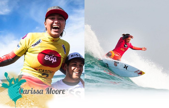 Two-time ASP world champion Carissa Moore is number one on our list of the 10 hottest girls in surfing. Photos courtesy of ASP