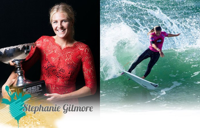 Hottest girls in surfing - Stephanie Gilmore.  Photos courtesy of ASP