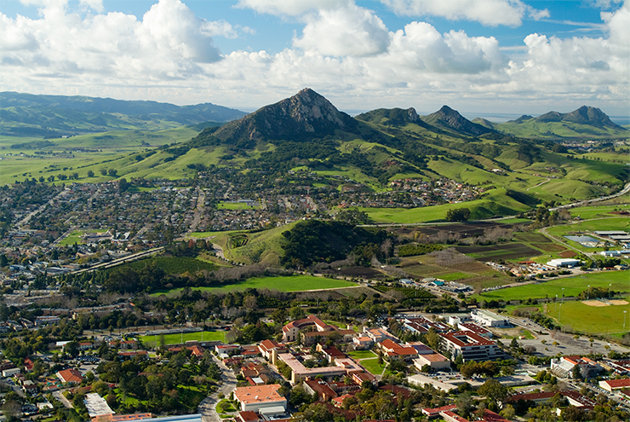 Cal Poly San Luis Obispo's beautiful surroundings are one reason why Yahoo Travel ranked it #3 on its list of the Best College Towns. Photo courtesy: San Luis Obispo Chamber
