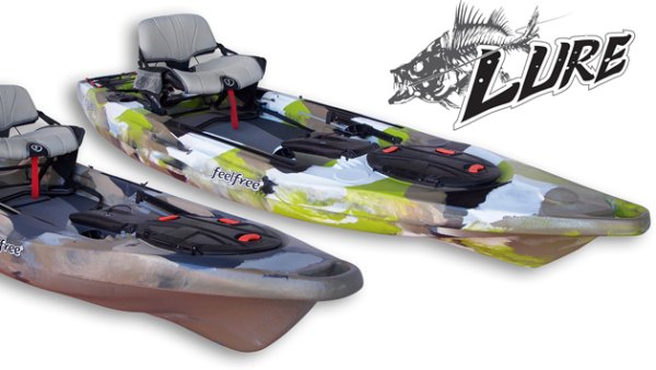 FeelFree US Launches the Lure 10 and 11.5, fishing kayaks built around the new Gravity Seat.