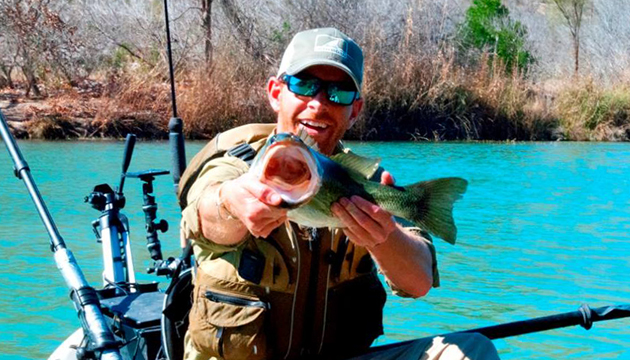 Sleeping on stones, going without showers or modern conveniences, but catching tons of bass - that's living. That's kayak fishing the Devil's River.