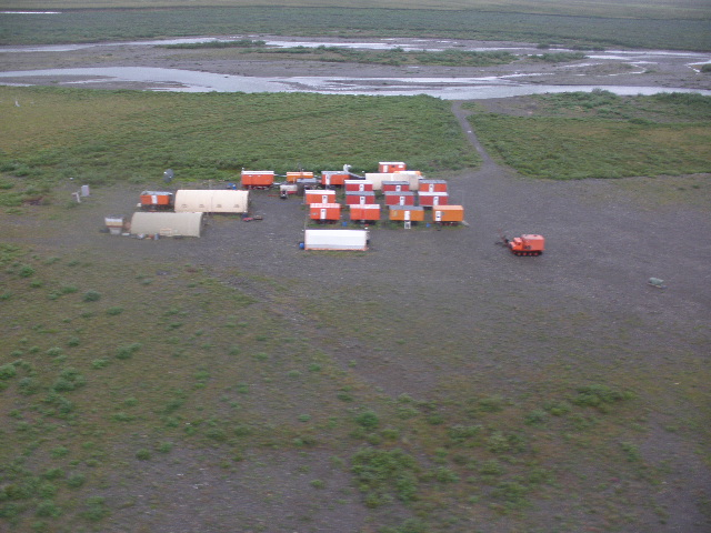 """Aerial view of Kavik River Camp featured in """"Life Below Zero;"""" photo courtesy National Geographic Channel"""