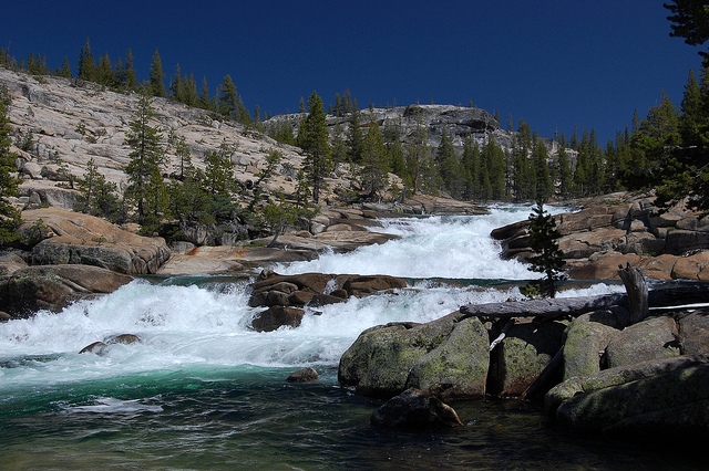 Dropping on the Tuolumne; photo by Grant Montgomery