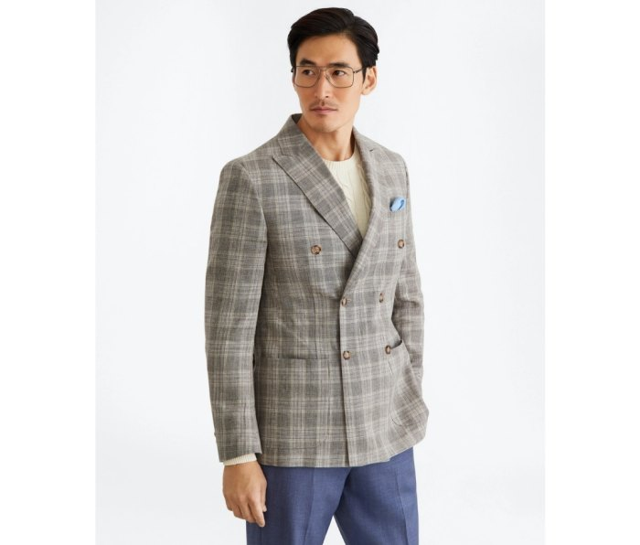 Brooks Brothers Regent Fit Double-Breasted Check Sport Coat