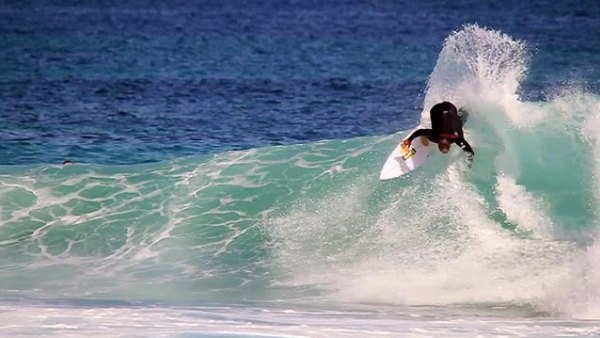 CJ Hobgood reveling in the perfect surf found in Western Australia; frame grab from video