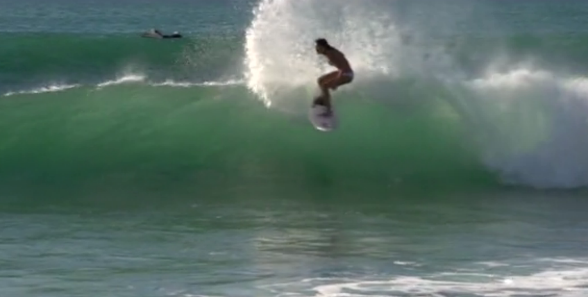 Anastasia Ashley rips one off the top at Zippers. Photo: Screen Grab
