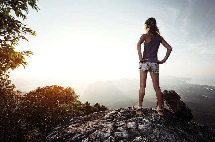 Reach the top of your next mountain without hitting the wall with any one of these five energy gels. Photo of girl on top of mountain courtesy of Shutterstock.com