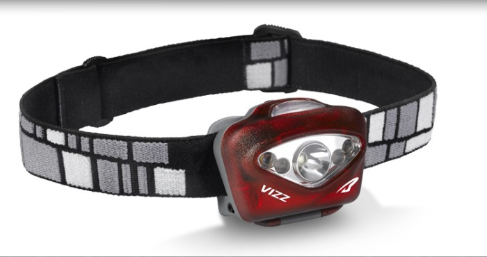 The Vizz is available in red, green and gray. Photo courtesy Princeton Tec