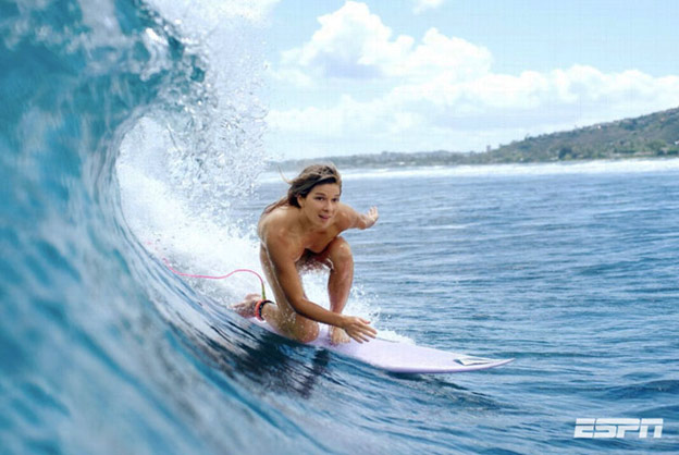 coco ho surfs naked