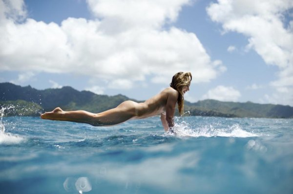 Cotes Cube: Coco Ho surfs naked - Mens Journal