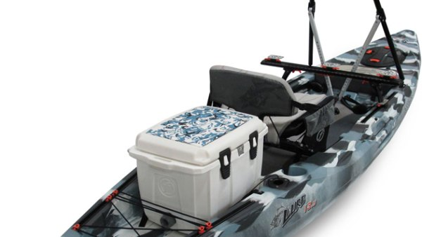 FeelFree's new Lure 13.5 adds a several new features to the already-fishy, stand-up friendly design: a multi-use bow console and transducer recess.