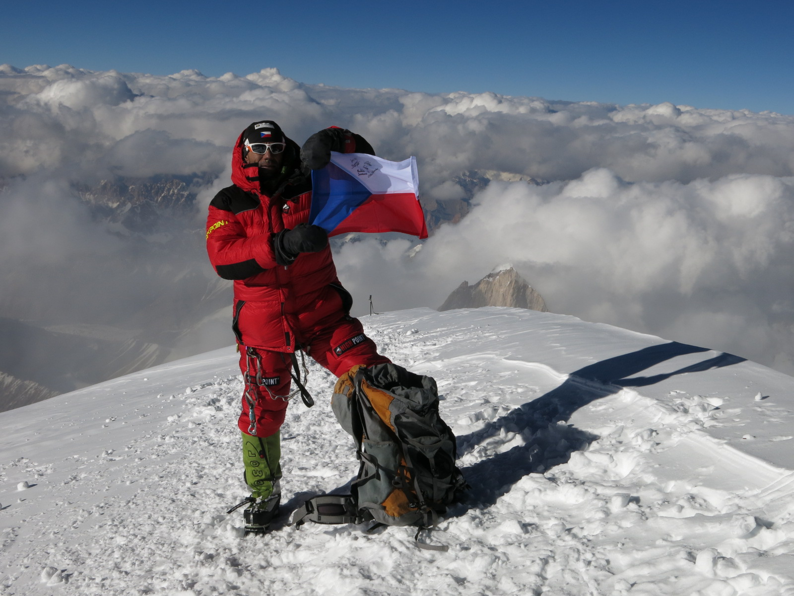 Radek Jaros earned the Crown of the Himalaya by making the summit of K2. Photo from Caters News Agency used by permission