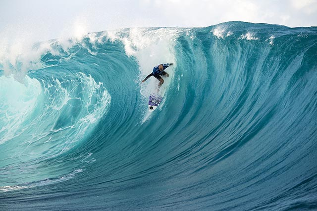 Australia's Nathan Hedge was the lone surfer to a earn a perfect 10 point ride on day 1 of the Billabong Pro Tahiti. Photo courtesy ASP.