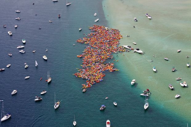 Suttons Bay Floatilla 2013. Can tiny New Hampshire beat this record? Photo by Flying Still Photography