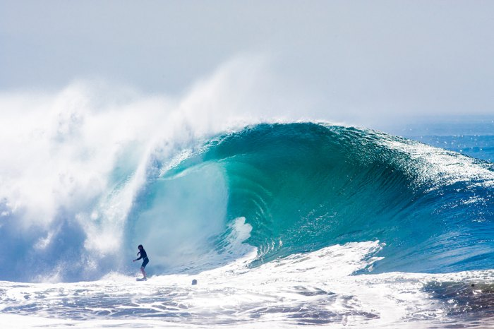 Dylan Graves charges The Wedge. Photo: Taras/ Surfingmagazine.com