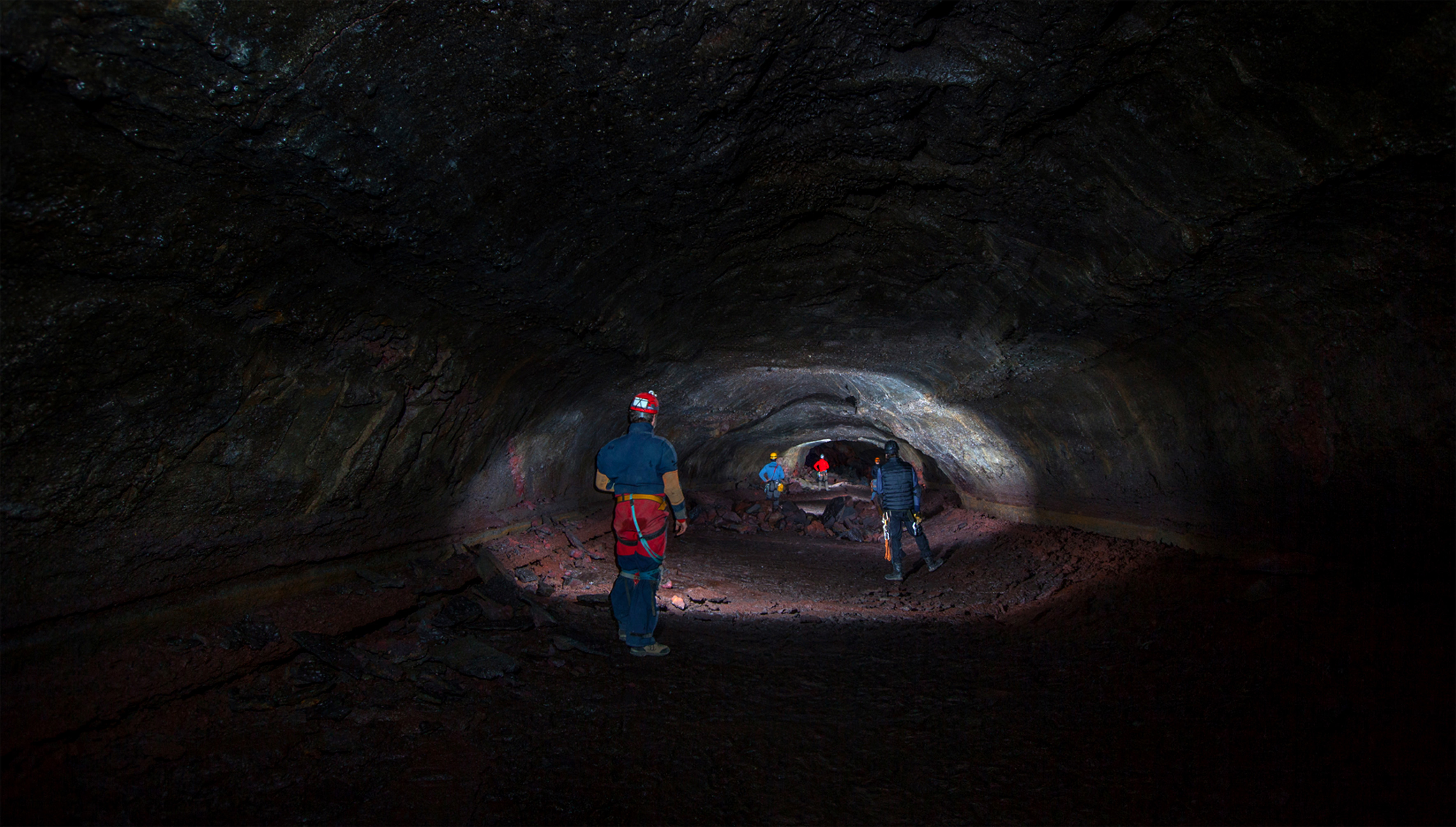 Lava cave photo by Josh Hydeman/Caters News