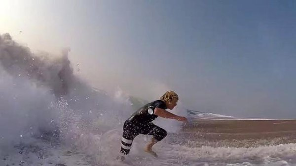 John John Florence and his new form of surf training; frame grab from video