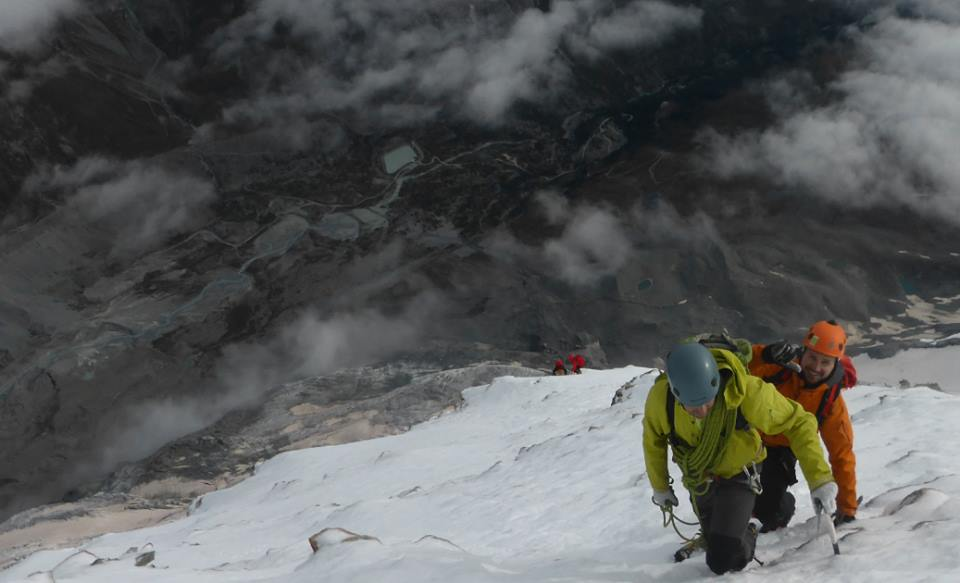 Photo looking down the Matterhorn shows the steepness climbers face. Photo is from Joshua Pennell's Facebook page