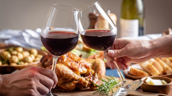 red wine and roasted chicken