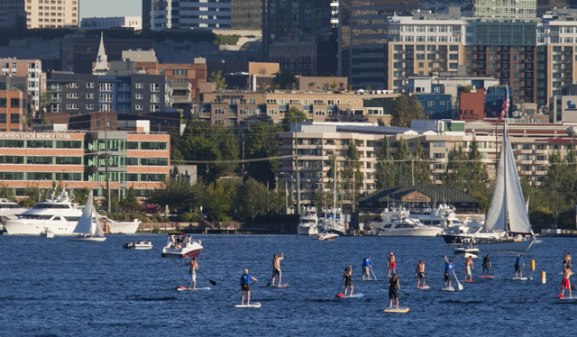 north american SUP destination, seattle, washington, puget sound, stand up paddle boarding, rob casey