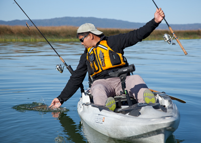Unique among mainstream fishing kayak manufacturers, the weight capacity for Old Town and Ocean Kayak models is listed as a range. Paul Lebowitz photo.