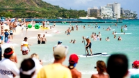 North American SUP destination, honolulu, hawaii, oahu, canoes, queens, waikiki, south shore, jenny lee, ryan foley, paddle town battle, stand up paddling, paddle surfing, hi life