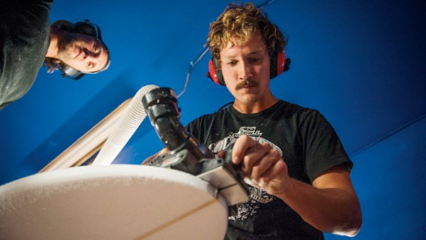 shaping an SUP, making a standup paddle board, hand crafted sup, building a SUP, shaper studios, Derrik Kapalla, christopher clark, from the mag