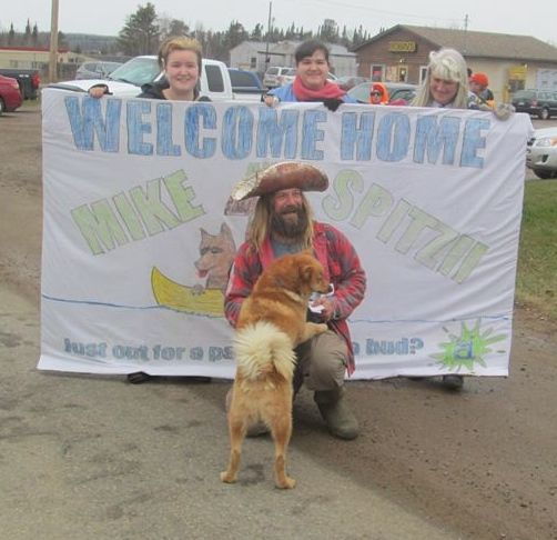 Mike Ranta is welcomed home