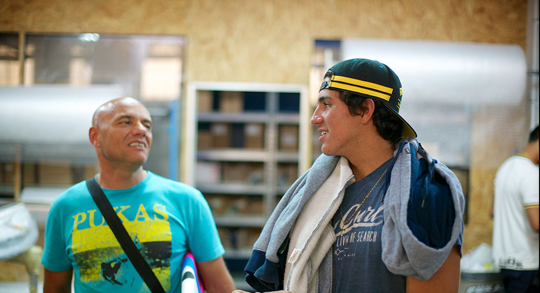 Johnny Cabianca and Gabriel Medina