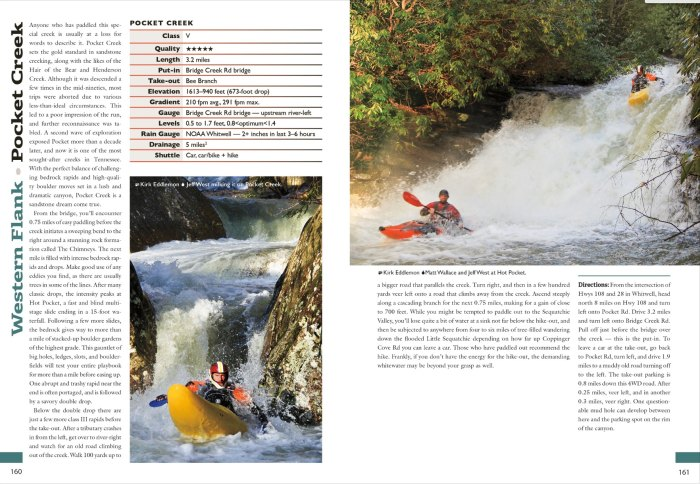 A entry excerpt from Kirk Eddlemon's 'Whitewater of the Southern Appalachians.'