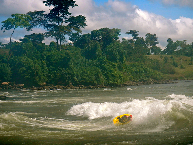 The White Nile provides world-class playboating and whitewater rapids for paddlers. Courtesy Jessie Stone.